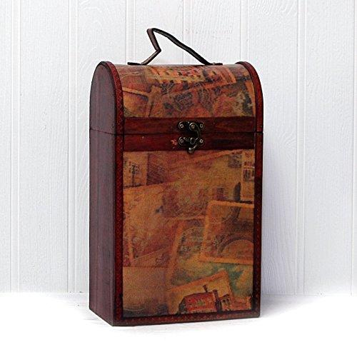 Der Premium 'Clarendon' Vintage Holz Weinträger Mit Broadleaf Rotwein – Geschenkidee Zum Geburtstag, Jubiläum, Als Danke Schön