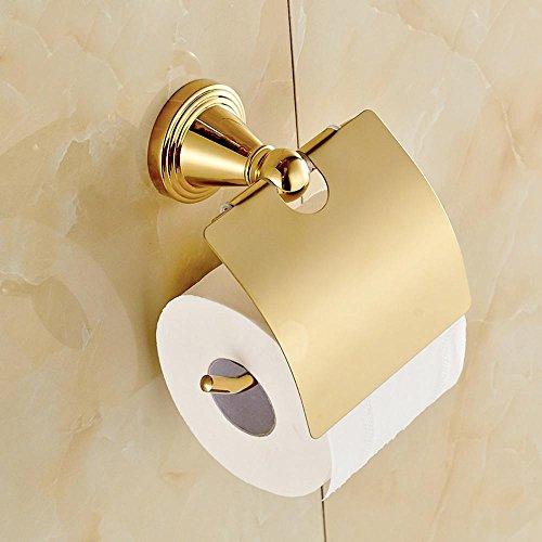 sdkky-european Gold Handtuch Rack, Creative Rolle Halter, Tissue Boxen, mit Deckel, WC, WC Papier Halter -