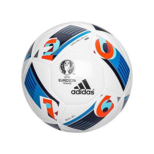 adidas Euro16 Mini - Balón para hombre, color blanco / azul /rojo, talla 1