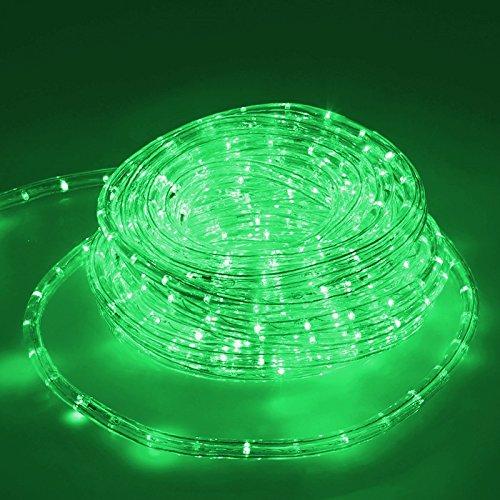 ECD Germany LED Lichterschlauch Grün, 10 Meter/36 LED Lampen pro Meter/Energieklasse A+