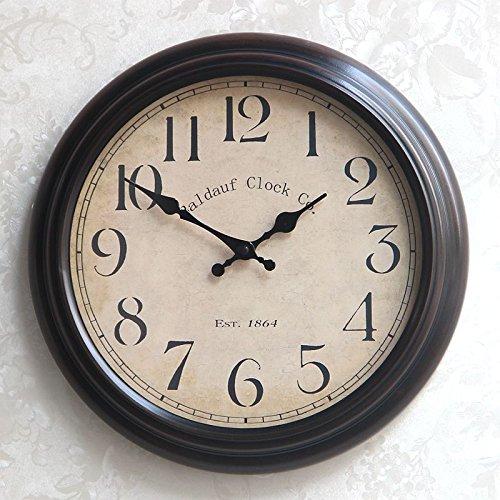 Beloved clock Wanduhr Modern Neu Für Jeden Raum präzise Kreative Retro Eisen Kunst Uhr Kreative Stille Wohnzimmer, 14-Zoll, Digitale Tastatur (Keine Second Hand kaufen Versand Versicherung)