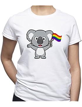 EUGINE DREAM Koala Hold LGBT Pride Flag Shirt Gay Pride Tshirt Gender Equality T Shirt Gay Lesbian Bisexual Transgender...