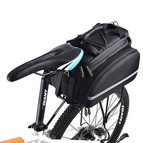 ZY Borsa Posteriore per Bicicletta, Borsa portabagagli Multifunzione per Bici Trunk Outdoor Outdoor Bicycle Bicycle Pack con Custodia Antipioggia