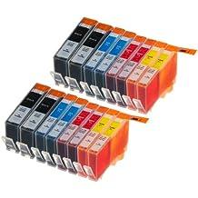 16 Multipack de alta capacidad HP 920 Cartuchos Compatibles 4 negro, 4 ciano, 4 magenta, 4 amarillo para HP Officejet 6000, Officejet 6500 AIO WL E710N, Officejet 6500 Wireless, Officejet 7000 E809A, Officejet 7500 WF AIO E910A, Officejet 6500 AIOS, Officejet 7000 Wide Format. Cartucho de tinta . CD972AE , CD973AE , CD974AE , CD975AE © 123 Cartucho