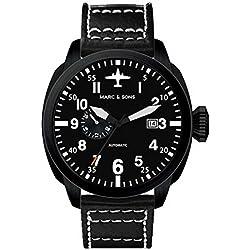 MARC & SONS Uhr, Automatik Herrenuhr, Fliegeruhr - Mechanical Pilot Watch - MSF-004