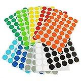 MARKIERUNGSPUNKTE AUS PAPIER | SELBSTKLEBEND | Verschiedene Farben | Durchmesser & Menge wählbar | Farbige Klebepunkte | Runde Etiketten zum Markieren und Kennzeichnen | Vielzwecketiketten / 20 mm Sortimentspack (Weiß, Gelb, Orange, Rot, Dunkelblau, Hellblau, Dunkelgrün, Hellgrün, Schwarz, Hellgrau) je 40 Stück