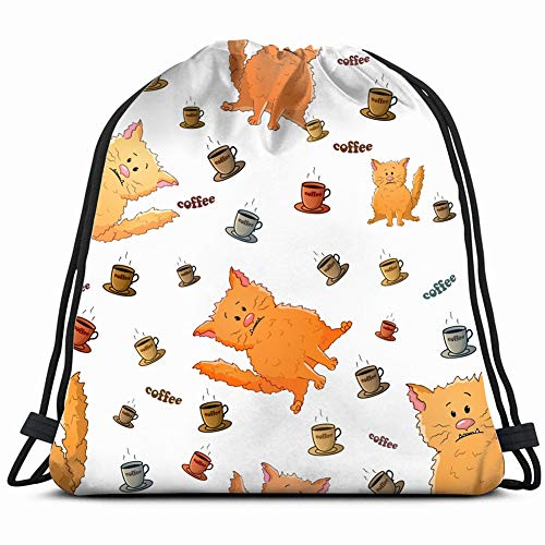 DD Decorative Cute Cartoon Weird Animals Wildlife Angry Drawstring Backpack Gym Sack Lightweight Bag Water Resistant Gym Backpack for Women&Men for Sports,Travelling,Hiking,Camping,Shopping Yoga