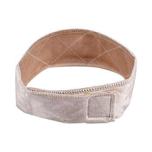 t Samt Perücke Grip Haarband, verstellbar mit Perücke, rutschfest, Farbe: Beige ()