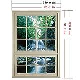 ALLDOLWEGE Das Wohnzimmer 3D-emulation Fenster sticker Poster Schlafzimmer Stereoanlage Wandmontage sofa Hintergrund Bilder 3D-Ansicht