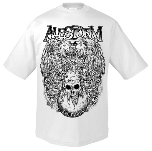 Support Music pirateria Alestorm 701961 T-Shirt bianco 56/58