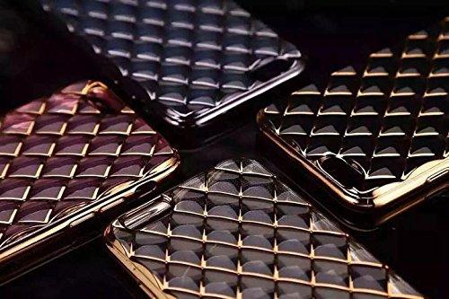 Corst Brilliant Luxus Bump 3D Wasser-Würfel [kratz-] Cases Premium-ultradünne leichte Überzug Plattierung TPU Silikonhülle für iPhone 6Plus / 6S Plus (Pink) Gold