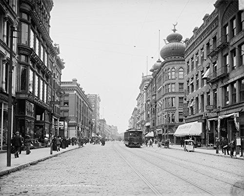 The Poster Corp Massachusetts: Springfield. /NA View of Main Street In Springfield Massachusetts. Photograph C1905. Kunstdruck (45,72 x 60,96 cm) -