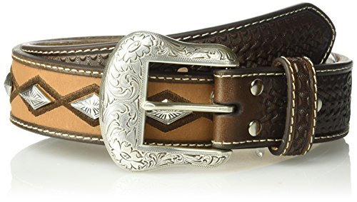 Nocona Belt Co. herren Nocona Brown Diamond Concho Center Belt  Gürtel  -  braun -  -