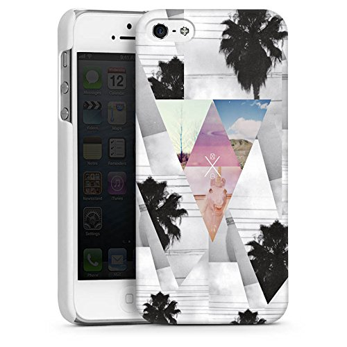 Apple iPhone 5s Housse Étui Protection Coque Triangles Triangles Triangles CasDur blanc