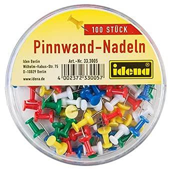 200 Pinnwandnadeln bunt gemischt für Pinnwand Push Pins farbig Nadeln Pin