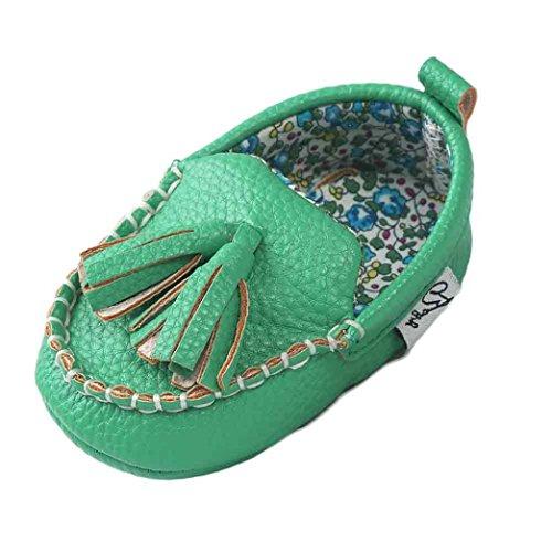 Sapatos Únicos Menina Menino Clode® Macios Inferior Couro Plana De Verde xUwvqp6