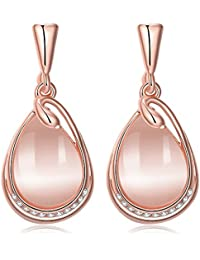 Yellow Chimes High Grade Austrian Crystal 18K Rose Gold Plated Designer Earrings for Girls and Women (YCFJER-01077-RG)