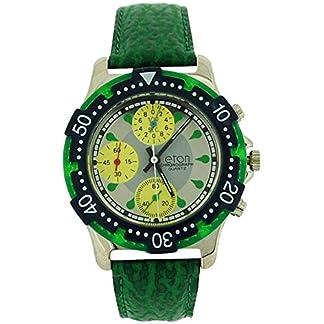 Eton Chronograph Men's Analogue 3 Sub Silver Dial Red PU Strap Watch 1404G