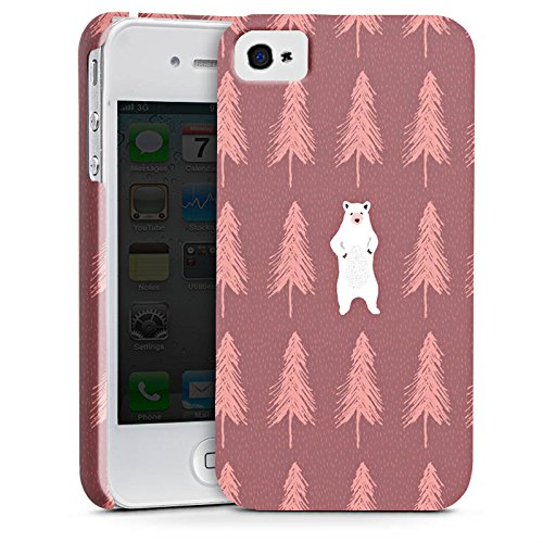 Apple iPhone X Silikon Hülle Case Schutzhülle Der Bär im Wald Eisbär Bär Premium Case glänzend