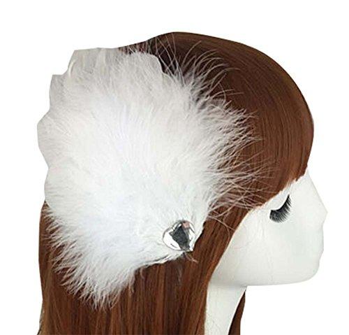 Une Paire de Cheveux Ornements Bride Coiffure Plume Pince à Cheveux Clip Performance Edge