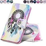 Huihai Huawei Y5 II/Y5 2 Hülle, Flip Case Cover Exquisite Malerei [Traumfang] PU Leder Tasche Brieftasche Handyhülle, mit Standfunktion Schutzhülle für Huawei Y5 II/Y5 2 CUN-L21 (5.0 Zoll)