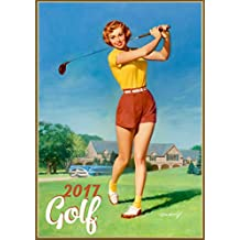 Wall Calendar 2017 [12 pages 20x30cm] PinUp Sexy Girl Play Golf Vintage Sport
