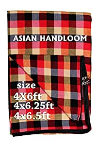 ASIAN HANDLOOM Cotton Mattress Cover Protector for Diwan Single Bed with Zip/Chain (72x42x5, Multicolour)