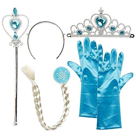 Costume La Reine Des Neiges - Set Déguisement Princesse 2-9 ans Costume Elsa