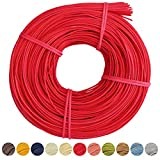 Peddigrohr / Flechtmaterial / Peddig / verschiedene Farben / 2,25mm / ca. 250g (rot)