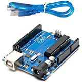 Robotbanao UNO R3 Development Micro controller Board ATmega328P ATmega16U2 for Arduino Compatible with USB cable Length 1 Fee