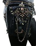 MIRUIKE Steampunk Marsupio Borse A Tracolla Con Fondina Gotica Per Donna Borsa A Tracolla Con Tracolla A Tracolla Nera