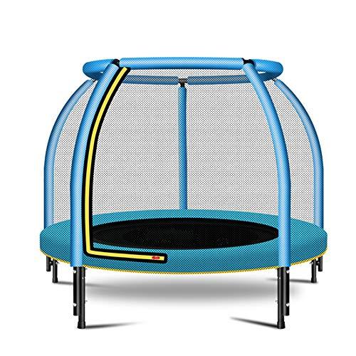 Jiasj Trampolin mit Sicherheitsnetz Sprungmatte No-Gap Design Indoor Outdoor Mini Trampolin-Sprungmatte, Durchmesser 122cm Gewicht Kapazität 200kg