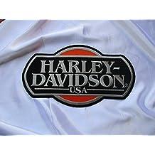 chopper55 - Parche aplicable mediante planchado (aprox. 28 x 9,5 cm), diseño de escudo de águila del club de motos Harley Davidson