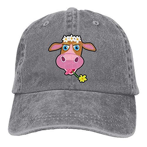 Hoswee Unisex Kappe/Baseballkappe, Cowboy Baseball Cap Men&Women Dad Style Hat Cow Flower C4 - 1 Yeezy Nike