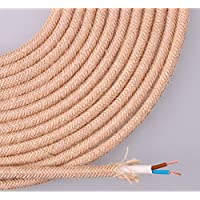 EDM Cable de Cuerda de Yute Tejida y enfundada 2x0.75 25m