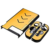 Leoie Hard Aluminum Protective Case Anti-Slip Shockproof Protective Cover for Game Console and Handles Gold
