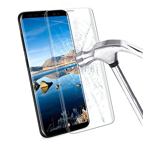Preisvergleich Produktbild Samsung Galaxy S8 Panzerglas,  ikalula Anti-Kratz Galaxy S8 Schutzfolie 3D Full Coverage HD Samsung Galaxy S8 Displayschutz Anti-Luftblasen Screen Protector für Samsung Galaxy S8 - Transparent,  1 Stück