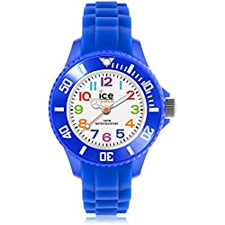 Ice-Mini Children's Size Ice-Watch White Dial Colourful Numbers Blue MN.BE.M.S