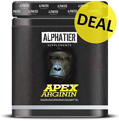 ALPHATIER L-ARGININ BASE Kapseln hochdosiert - 99% reines Arginin - 360 Caps ohne Magnesiumstearat - Pump Effekt - deutsche Premiumqualität - höchste Reinheit - Sport Supplement - Plus L-arginin