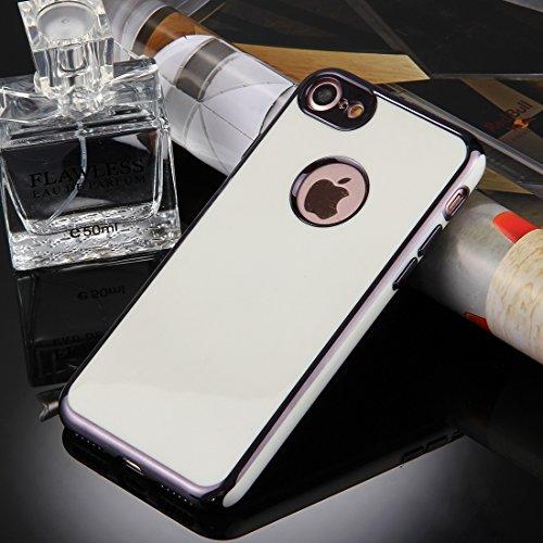 Wkae 360 Grad Shockproof abnehmbare Galvanotechnik TPU + PC Kombination Schutzhülle mit weißer PC Abdeckung für iPhone 7 ( Color : Red ) Grey