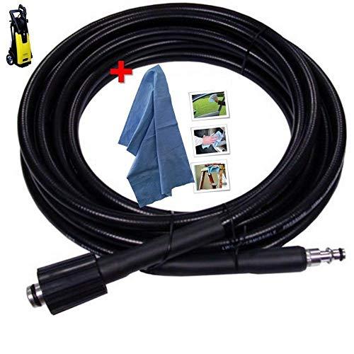 Parpyon lavor tubo ricambio per idropulitrice ad acqua fredda lavorwash e fasa con attacco rapido - lunghezza 6 metri + omaggio panno professionale plus