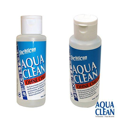 AquaClean AC1000 AC 1000 - ohne Chlor von Yachticon - 100 ml für 1000 Liter Trinkwasser Brauchwasser tötet Bakterien z.B. Cholera, Salmonellen, Keime. zur Entkeimung und Dauerfrischhaltung