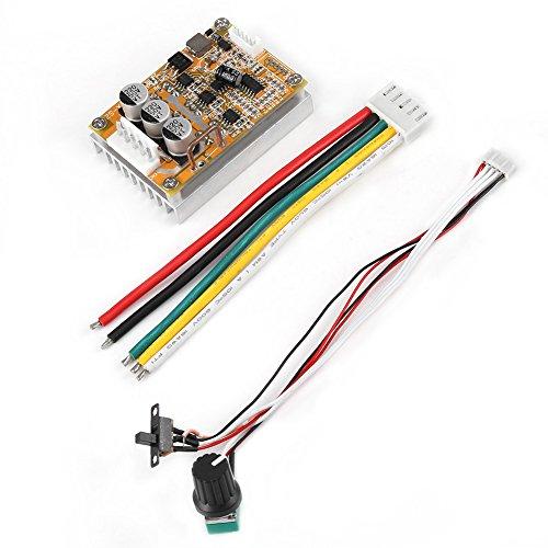 Drei-phasen-motor-controller (5 V-36 V 350 Watt Breite Spannung 3-phasen-sensorless BLDC Motor Controller Board Brushless ESC Motor Driver Modul mit Kühlkörper)