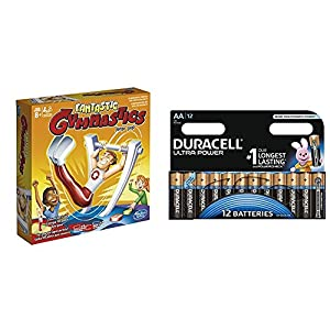 Hasbro Gaming - Gimnasio fantastico (C0376175) con Duracell Ultra Power - Pack DE 12 Pilas alcalinas AA