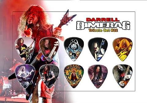 Printed Picks Company Darrell Dimebag Guitar Pick Display - Premium Celluloid Tribute Set