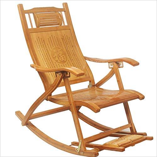 WJJJ Schlafsessel Klappstuhl Tragbare Bambusholz Multifunktions Mit Armlehnen Verstellbar Moderne Freizeit Designer Stuhl Für Frühstückspause Haus Balkon -