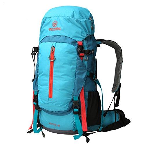 zaino trekking Spalle 45L uomo di grande capienza Outdoor Alpinismo Bag Walking Camping viaggio Camouflage pacchetto impermeabile Zaini da escursionismo ( Colore : A , dimensioni : 45L-57*31*18cm ) A