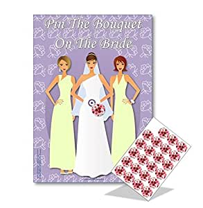 Hen Night Party Games - PIN THE BOUQUET ON THE BRIDE - FREE P&P - 20 players