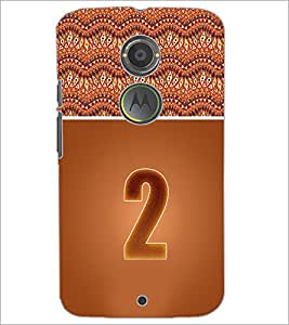 PrintDhaba Numerology Number 2 D-3634 Back Case Cover for MOTOROLA MOTO X2 (Multi-Coloured)