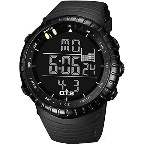 lionm para hombre militar deportes al aire libre reloj Digital de cuarzo resistente al agua muñeca relojes LED retroiluminación